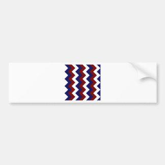 Zigzag I - Blanc rouge foncé et bleu-foncé