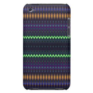 Zigzag multicolore et barré coque iPod touch