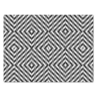 Zigzag noir et blanc papier mousseline
