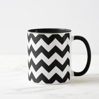 Zigzag noir et blanc tasses