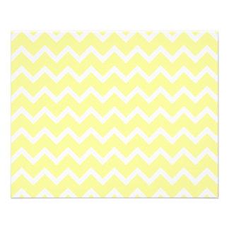 Zigzags jaune-clair et blancs prospectus avec motif