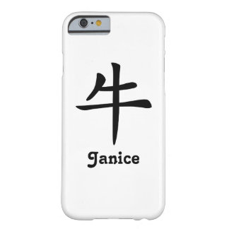 Zodiaque chinois - boeuf - noir coque iPhone 6 barely there