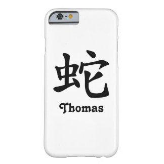 Zodiaque chinois - serpent - noir coque iPhone 6 barely there