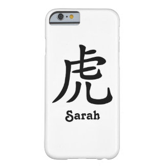 Zodiaque chinois - tigre - noir coque barely there iPhone 6