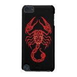 Zodiaque rouge complexe de Scorpion sur le noir