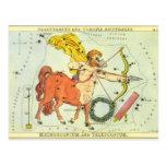 Zodiaque vintage de constellation de Sagittaire d' Carte Postale