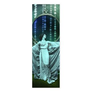 Zohara : Femme d'art déco dans l'Aqua et le vert Cartes De Visite Professionnelles