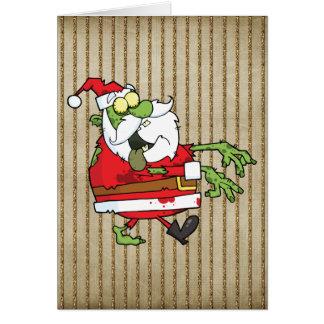 Zombi de Père Noël Carte De Vœux