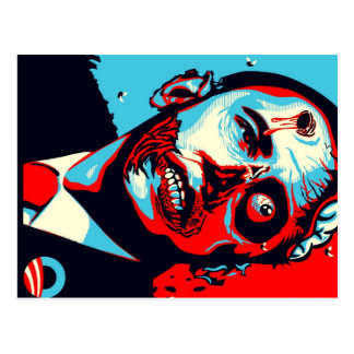 zombi d'obama carte postale