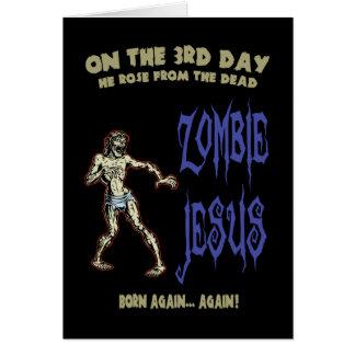 Zombi Jésus Carte De Vœux
