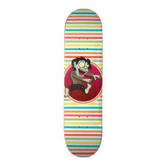 Zombi Rayures lumineuses d arc-en-ciel Skateboards Personnalisés