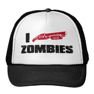 zombis du fusil de chasse i casquettes