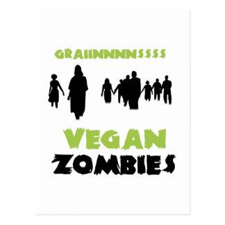 Zombis végétaliens carte postale