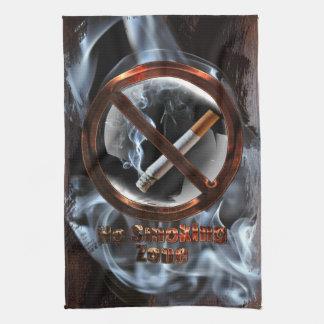 Zone non-fumeurs serviette pour les mains