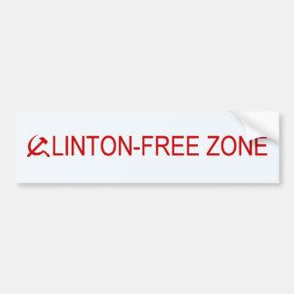 zone sans Clinton Autocollant De Voiture
