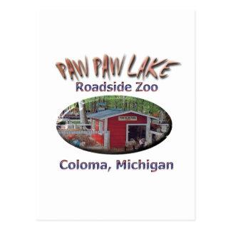 Zoo de bord de la route de lac paw de patte cartes postales