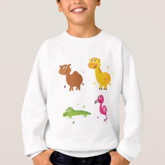 Zoo mignon tiré par la main extraordinaire sweatshirt