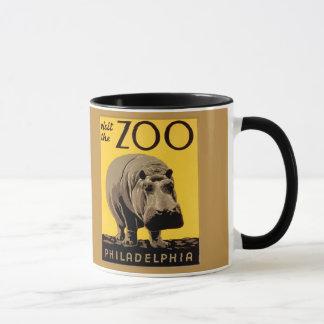 Zoo vintage Philadelphie, hippopotame de visite Mugs