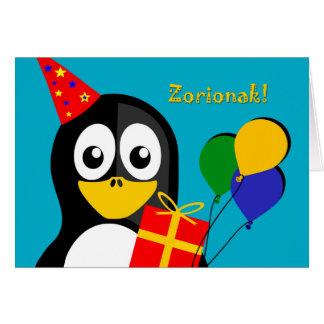 Zorionak ! Anniversaire Greetins dans le basque, Carte De Vœux