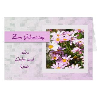Zum Geburtstag - joyeux anniversaire en allemand,  Cartes