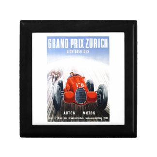 Zurich 1939 Grand prix emballant l'affiche Boîte À Souvenirs