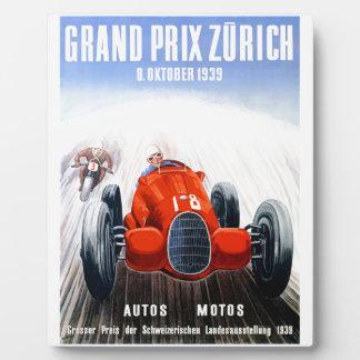 Zurich 1939 Grand prix emballant l'affiche Plaque Photo